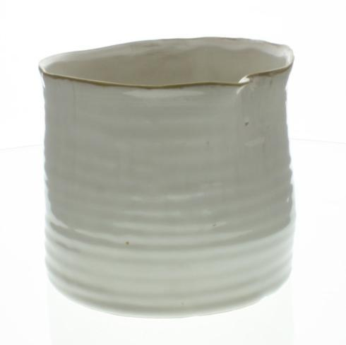 HomArt   BOWER CERAMIC VASE - LRG WIDE - FANCY WHITE $29.95
