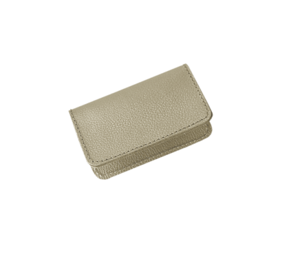 $24.00 Card Case Champagne Leather