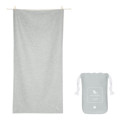 $29.95 Eco Collection - Quick dry & compact towels for gym & yoga - MOUNTAIN GREY- EXTRA LARGE