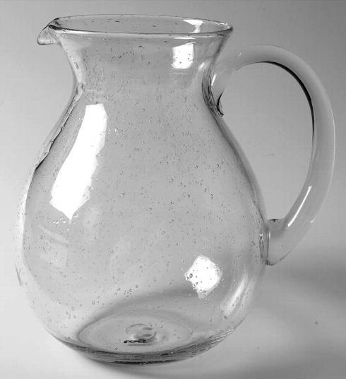 $38.95 Bubble Glass Pitcher, Clear
