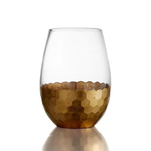 Zodax  Glasses Fez Stemless Wine Gold Leaf $15.95