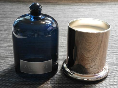 $39.95 Algarve Zodax Medium Apothecary Guild Scented Candle Blue Dome Jar 1 Wick