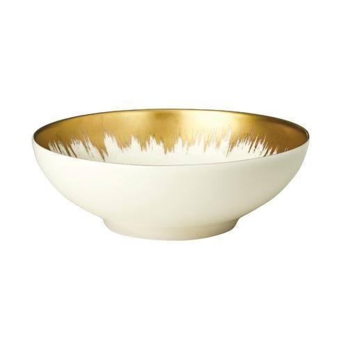 """Kim Seybert   Aura Opal Cereal Bowl with Gold Brushstroke 6.75"""" D $69.00"""
