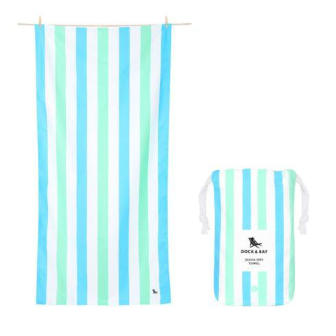 $24.95 Summer Collection - Quick Dry Beach Towel - ENDLESS DAYS - BLUE GREEN - LARGE