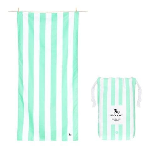 Elizabeth Clair\'s Unique Gifts  Dock & Bay Cabana Collection -  Quick Dry Beach Towel - NARABEEN GREEN - EXTRA LARGE $24.95