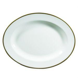 "Prouna   Comet Gold 14"" Oval Platter $75.00"