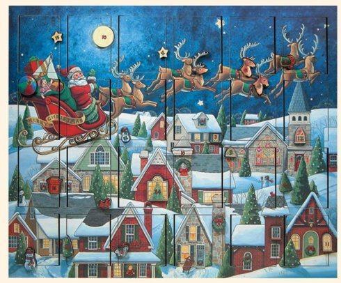 $90.00 Byers' Choice ~ Santa's Sleigh Advent Calendar