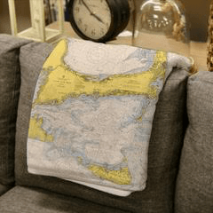 $69.95 Cape Cod Map Throw