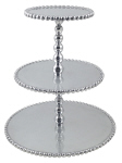 Mariposa   Pearled 3-Tier cupcake stand $98.00