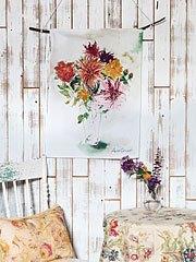 $18.00 Mums Watercolor Tea Towel