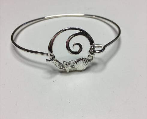STERLING SILVER WAVE SHELLS BRACELET collection with 1 products