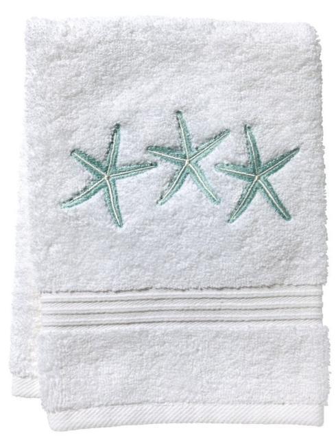 $40.00 Guest Towel - 3 Starfish, Aqua