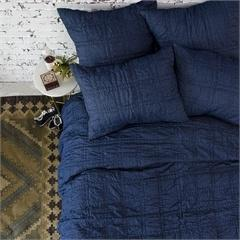 $300.00 Navy Handstitched Cotton Quilt- Queen