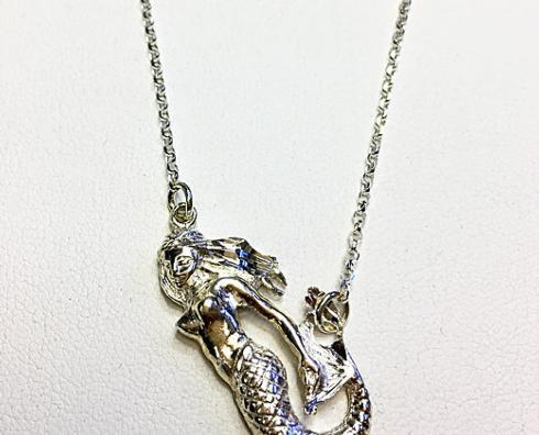 $80.00 Sterling Silver Mermaid Necklace