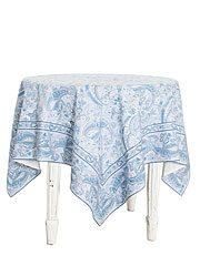Priscilla Paisley Table Cloth 54X54  collection with 2 products