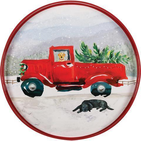 $49.95 Red Truck Tray