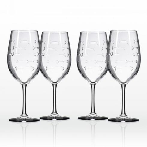 $70.00 Set of 4 School of Fish Wine Glasses