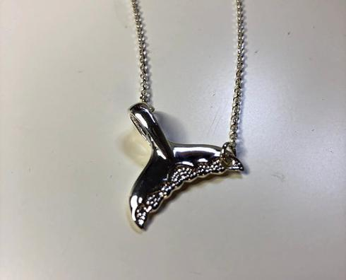 $80.00 Sterling Silver Whale Tail Necklace