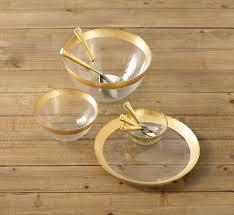 Shiraleah   Gold rimmed glass bowl $66.00