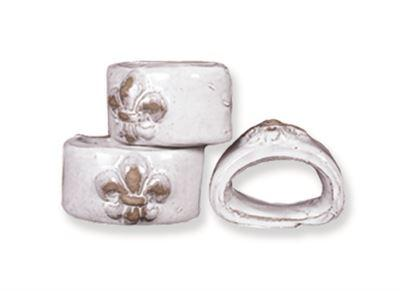 $76.00 Fleur de Lis Napkin Rings, Set of 4