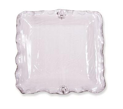 $110.00 Fleur de Lis Square Platter