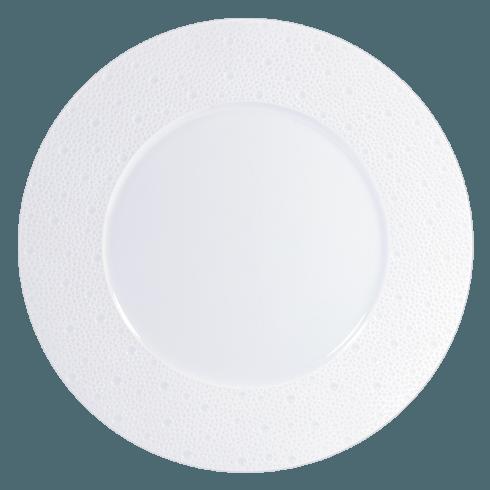 Bernardaud  Ecume White (White Table) Service Plate, 11.4