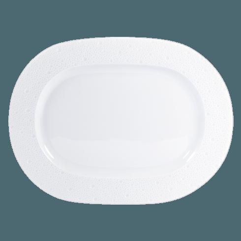 Bernardaud  Ecume White (White Table) Oval Platter, 12