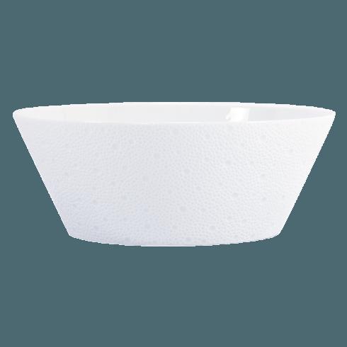 Bernardaud  Ecume White (White Table) Salad Bowl, 9.5
