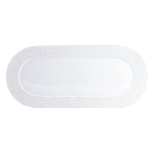 Bernardaud  Ecume White (White Table) Cake Platter Rectangular $208.00