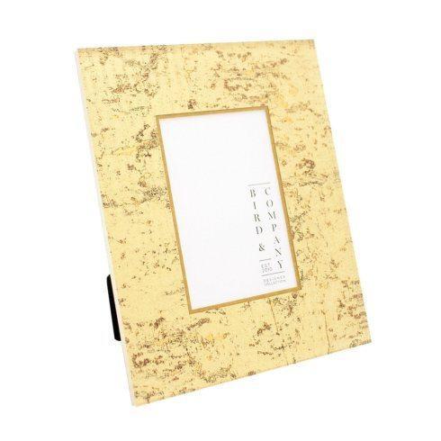 Bird & Company  Gold Leaf Frames Gold Cork/Gold Leaf 5X7 Frame $95.00