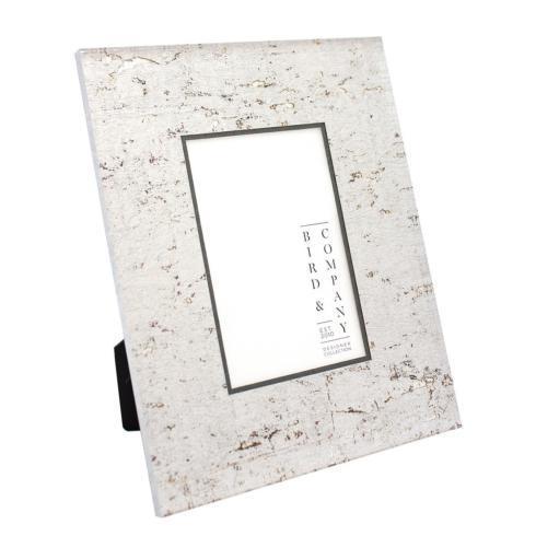 $85.00 Pewter Cork/Silver Leaf 4x6 Frame