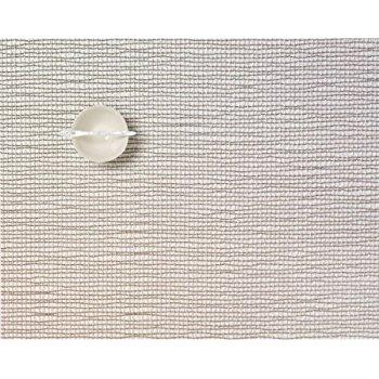 Chilewich   Lattice Silver Rectangular Table Mat $16.50