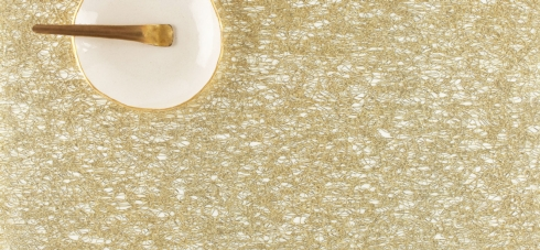 $33.50 Gold Metallic Lace Rectangular Placemat