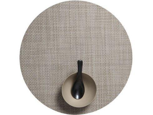 Chilewich   Basketweave Round Khaki Table Mat $15.75