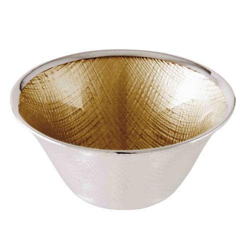 $40.00 Dogalini Gold Round Bowl