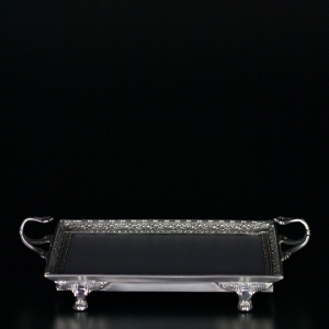 $169.00 Pewter Footed Vanity tray