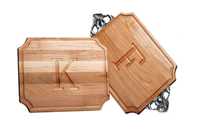$63.00 Small Cutting Board with Monogram and Handles