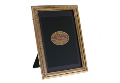 $108.00 Gold Beaded Floral Frame 4x6