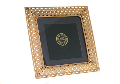 "$132.00 Ornamental Gold Weave 5""x5"" Frame"