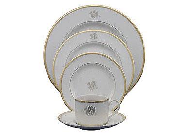 Pickard Signature  Signature Gold Monogram Dinner Plate $75.00