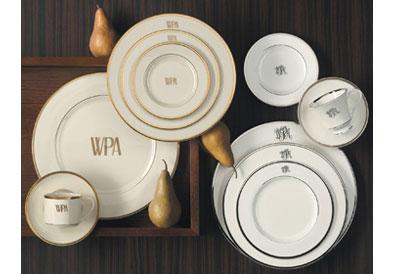 Pickard Signature  Signature Gold Monogram Soup Plate $84.00