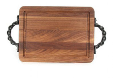 $78.00 Wiltshire Walnut Cutting Board with Twisted Handles