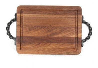 BigWood Boards   Wiltshire Walnut Cutting Board with Twisted Handles $78.00