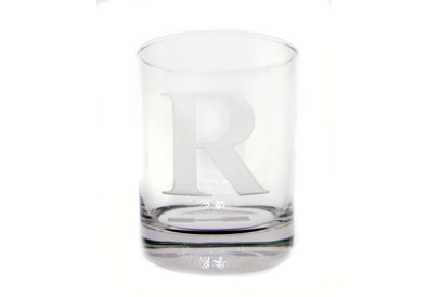 Neuwirth  Monogram Crystal Barware Double Old Fashioned Glasses with 3 Initials Set of 4 $60.00