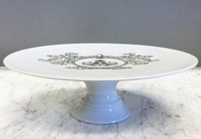 $195.00 Cake Pedestal with Fleur de Lis Crest