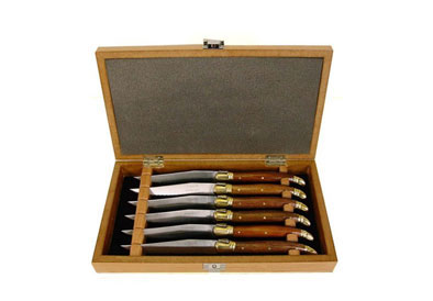 Laguiole   Rosewood Handle Steak Knife Set $140.00