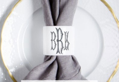 Napkin Ring with Initial