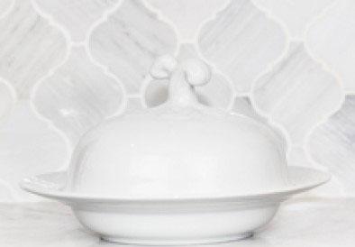 Sasha Nicholas  Weave Simply White Covered Bowl $66.00