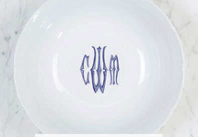 Sasha Nicholas  Weave Simply White With Personalization Medium Serving Bowl with Persoalization $120.00