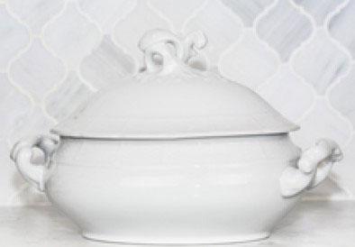 Sasha Nicholas  Weave Simply White Simply White Covered Tureen $176.00